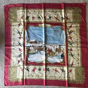 Hermès scarf Les Plaisirs Du Froid 1991